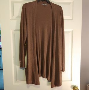 Roz & Ali Chocolate Brown Long Sweater
